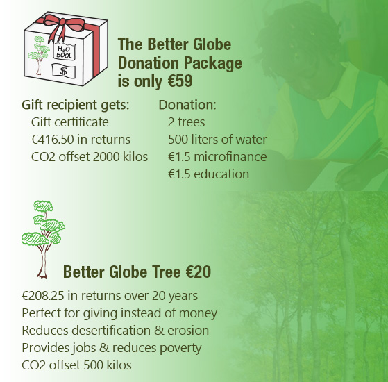 better globe tree and donation package